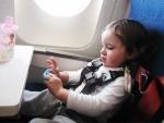 Calatoria cu avionul pentru copil
